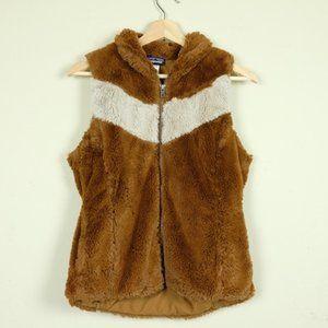 Patagonia Brown Faux Fur Vest